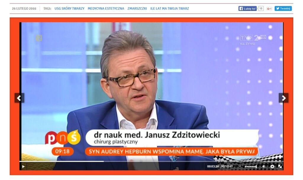 Janusz Zdzitowiecki w TVP 2